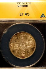 1916 ANACS XF45 Great Britain George V Florin!! #E0802