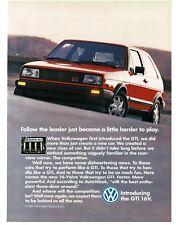 1987 VW Volkswagen GTI 16V Red 2-door Hatchback VTG PRINT AD