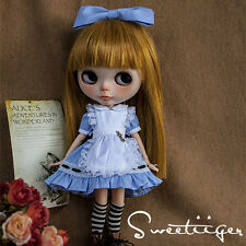 """【Tii】blue dress outfit 12"""" 1/6 doll Blythe/Pullip/azone Clothes Handmade girl"""