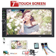 "7"" 2Din Car MP5 Player Bluetooth Touch Screen Stereo Radio HD+Rear Camera Frame"
