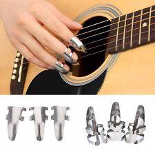 Sale Guitar Accessories Stainless Steel 3Pcs/pack  Guitar Picks Finger Plectrums