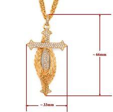 Scott Kay Vermeil Protect Cross Sapphire Guardian Angel Pendant Necklace Women