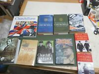 WINSTON CHURCHILL BOOK COLLECTION  X10 VGC LOW POST UK