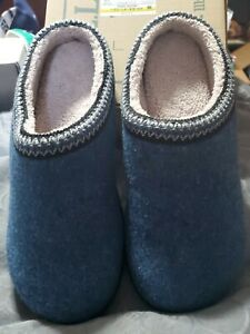 NEW LL BEAN Women's Storm Blue Wool Wicked Good Slippers Clogs Size 9 M