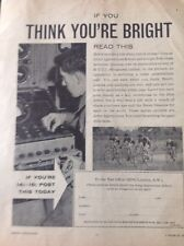 64-6 Ephemera Picture 1959 Join As A British Army Apprentice Advert