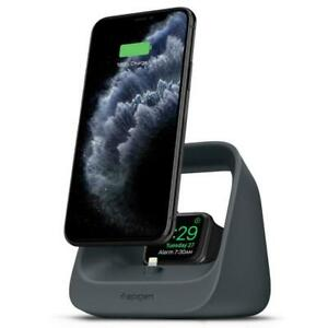 Spigen 2 IN 1 Charging Dock Stand Docking Station For IPHONE, Apple Watch