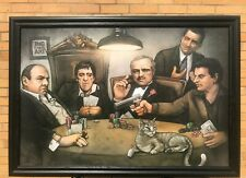 Big Chris Art Gangsters Poker Solid Wood Framed Textured Picture Print