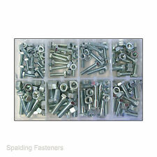 "Assorted 1/4"", 5/16"" & 3/8"" UNC Zinc Fully Threaded Set Screws, Bolts & Nuts"