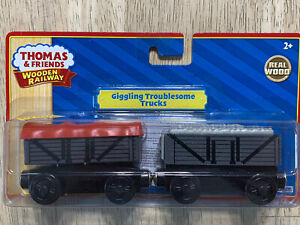 Thomas & Friends Wooden Railway Giggling Troublesome Trucks - NIB