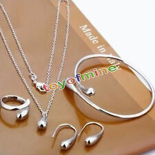 Belle bracelet gourmette bague collier boucles d'oreilles bijoux set