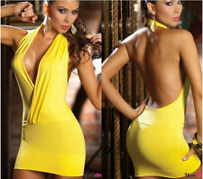Sexy Women Backless Bodycon Evening Party Cocktail Nightclub Dress Szie M OO300