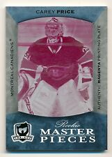 07-08 Carey Price, Rc, UD The Cup Rookie Masterpieces Cyan Plate /1