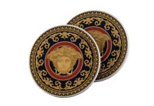 """VERSACE BY ROSENTHAL, GERMANY  """"MEDUSA"""" COASTERS, PORCELAIN, SET OF TWO."""