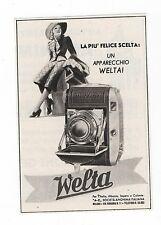 Pubblicità 1940 WELTA WELTINI FOTO PHOTO advertising werbung publicitè reklame