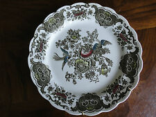 "Ridgway Windsor Hand Engraving 8"" Dinner Plate, Colourful Bird & Flower, No Tax"