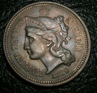 Old US Coins 1869 Obsolete Highgrade Three Cent Piece Beauty 3 c