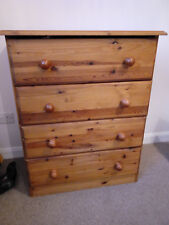 Solid pine chest of drawers w70 x h89 x d46. It cost £229 new.