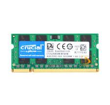 Crucial 4GB 2RX8 PC2-6400 DDR2-800MHz DDR2 SODIMM Laptop Memory RAM Intel 200pin