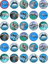 30 Dolphin Cupcake Toppers Decoration Party