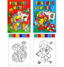2 x A4 WATERCOLOUR PAINTING CHILDRENS BOOKS MAGIC PAINT PALETTE EVERY PAGE 2060