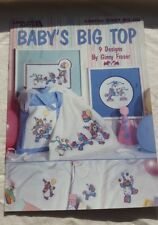 Baby's Big Top, Leisure Arts Cross Stitch Pattern 2321 Baby Room Decor & More!