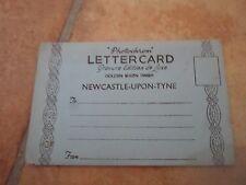 Vintage Photochrom Letter Card NEWCASTE-UPON-TYNE Golden Sheen Finish Unposted