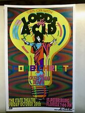 LORDS OF ACID Combichrist CHRISTIAN DEATH GIG POSTER Rozz Williams GOTH LSD PUNK
