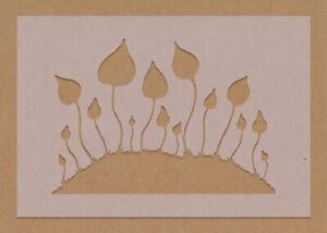 Magic Mushroom Liberty Cap Stencil Mycology Hippy Wall Art Psychedelic Crafts