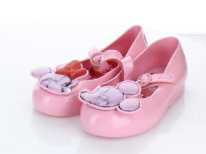 22-31 $65 Toddler Girl' Sz 10 Mini Melissa Mini Melissa Sweet Love + Mickey Flat