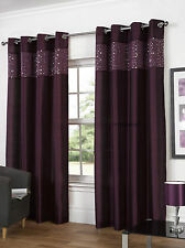 Glitz Eyelet/Ring Top Lined Curtain Pairs By Hamilton McBride - 3 Great Colours