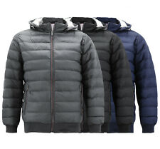 Men's  Lightweight Quilted Hooded Insulated Sherpa Lined Zipper Puffer Jacket