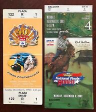 (2) RODEO National Finals Full TICKETS 2003 & 1998 Vegas WRANGLER 40th 45th PBR