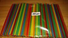 Jumbo-Trinkhalme Strohhalme 250x8mm bunt gemischt- Cocktail Longdrink 1000 Stück