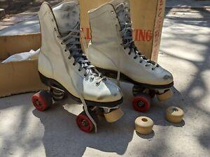 Vintage Sure Grip Super X5 Size 8 Roller Skates Rol-Best Wheels Good Year Welt