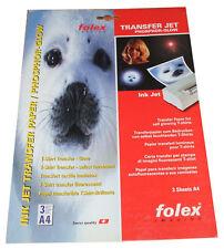 3 Blatt T-Shirt Transfer Papier / Folie Phosphor-Glow  Ink Jet A4  FOLEX