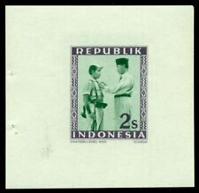 INDONESIA #31 2s Soekarno, PROOF – imperforate, og, NH, VF, staple holes