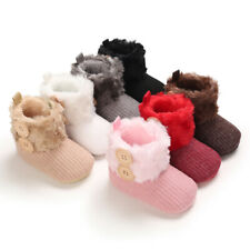 Arrival Xmas Gift Baby Boy Girl Booties Toddler Warm Faux Fur Winter Snow Boots