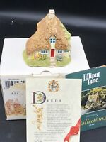 Lilliput Lane Two Hoots Cottage 1994 Figurine W/box & Deed