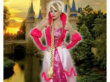 Long Wig Blonde Princess Tangled Costume Adult Woman Medieval
