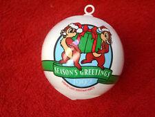 Disney Chip & Dale-Christmas Tree Ornament-Seasons Greetings 1992 Vtg!