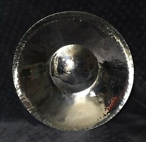 """Michael Aram 94"""" Africa Collection Hammered Metal Black Stainless Steel Bowl"""