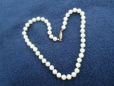 "Vintage 18"" Lg Knotted Pearl Necklace Pearls Costume Excellent Condition Choker"