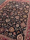 New Fine Quality Floral Oriental Rug Handmade in India, Thick Soft Pile, 9x12