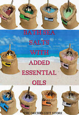 SCENTED BATH SEA SALTS ESSENTIALS OILS AROMATHERAPY ANCIENT WISDOM