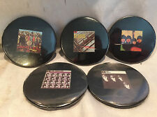 """Pre-owned Collectible The Beatles 5 Badge Button Pins 2-1/4"""" By Badge-A-Minit"""