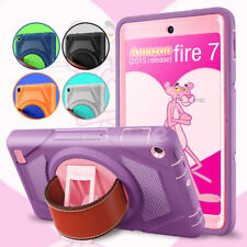 For Amazon Kindle Fire 7 2015 Hand Strap Rotate Heavy Duty Life Proof Case Cover