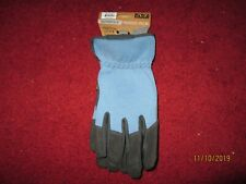 WOMEN,S  DURABLE PADDED PALM GLOVES BLUE/BLACK LARGE