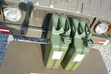NATO Swiss Army Fuel Gas Jerry Can 20 Liter  Set of 2  Military steel 5 Gallon