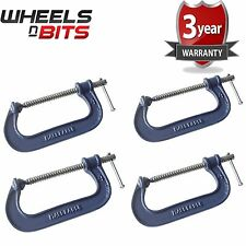 4x Heavy Duty G Clamp 8 Inch 200mm G-Clamps with Copper Screw with Swivel Pad