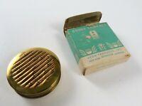 Vintage Avon Rouge Compact Round Mirror Purse Compact Case In Original Box
